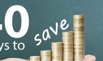40 Ways to Save Money this year