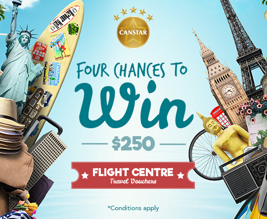 CANSTAR Flight Centre Travel Voucher Draw 2016