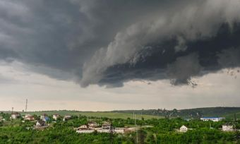 Storm Above Country Town