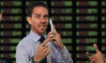 Share Trader On Phone