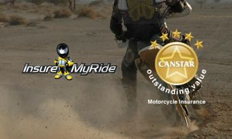 Insure My Ride has achieved a Canstar 5 star ratings for motorcycle insurance