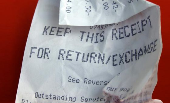 How do you get a refund for items bought?