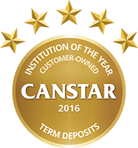 2016 Canstar Customer Owned Institution of the Year - Term Deposit logo