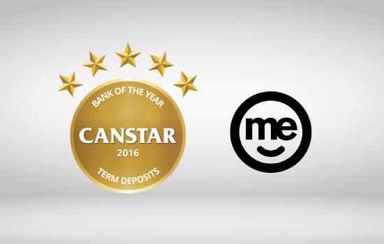 ME Bank wins CANSTAR 2016 Bank of the Year Term Deposit award