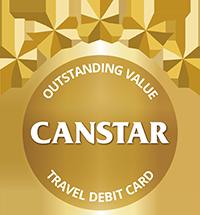 Canstar Outstanding Value Travel Debit Card