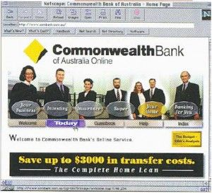 Commonwealth Bank's Original Website