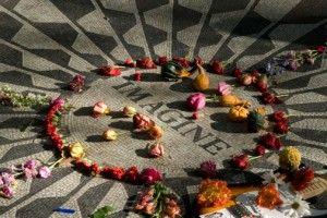 The John Lennon Mosaic in Central Park, New York City