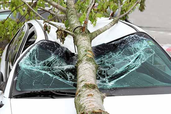 storm damage to car