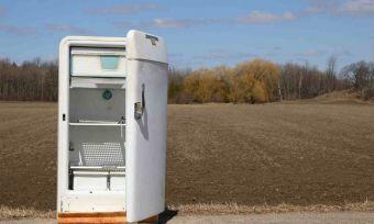 Broken fridge in outback