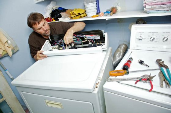 Fixing broken clothes dryer