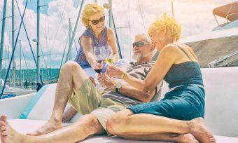 Older people on a boat