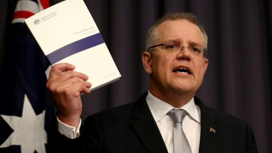 Treasurer Scott Morrison MP with the 2016 Federal Budget