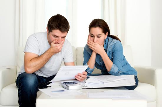 Stressed Couple Shocked
