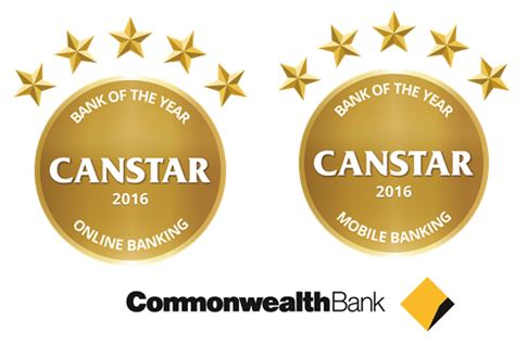 commonwealth bank online banking mobile banking awards
