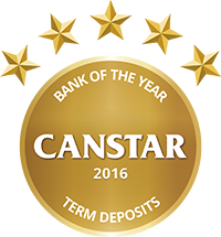 2016 Canstar Bank of the Year - Term Deposit