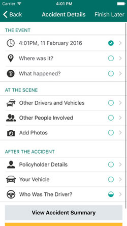 Suncorp-Car-Insurance-Claims-app-accident-details